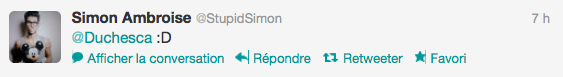 Tweet échanger entre simon et juliette 6/06/12