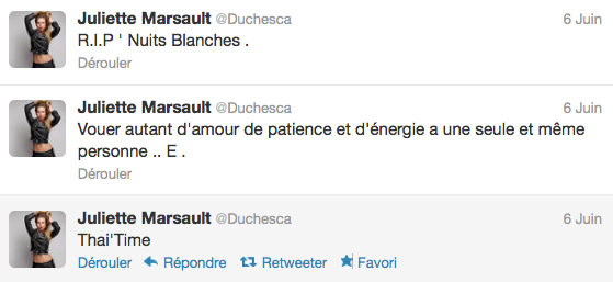 News twitter de juliette 09/06/12