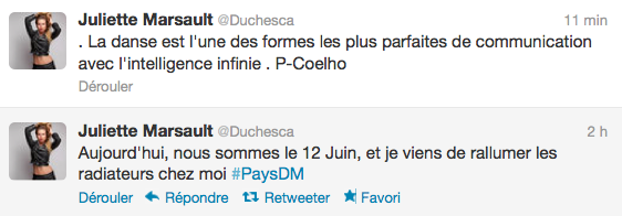 News twitter de juliette 12/06/12