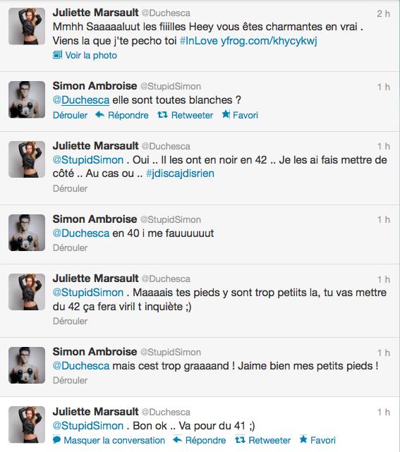 Conversation entre Juliette et Simon 13/06/12