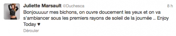 News twitter de juliette 14/06/12