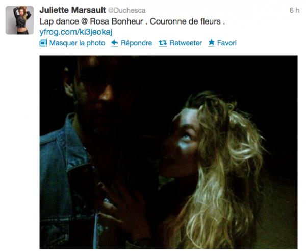 News twitter de juliette 16/06/12