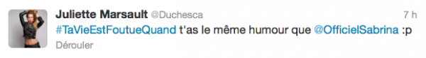 News twitter de Juliette 18/06/12