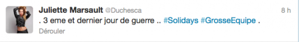 News twitter de Juliette 24/06/12