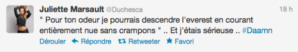 News twitter de juliette 26/06/12