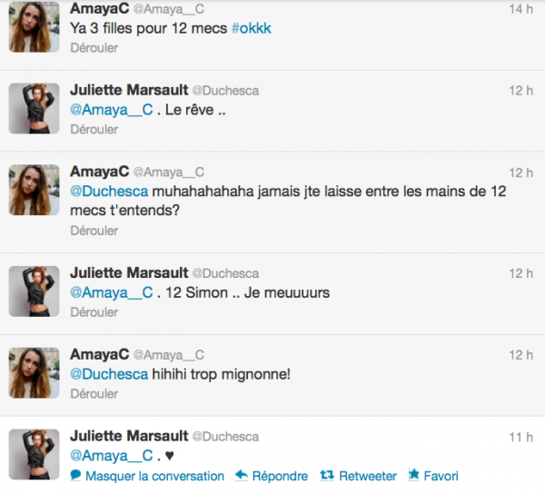 News twitter de juliette 30/06/12