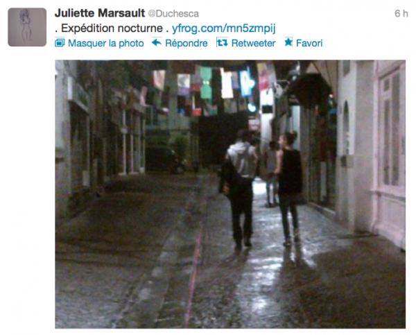 News twitter de juliette 07/07/12