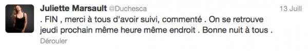 News twitter de juliette 13/06/12