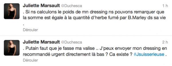 News twitter de juliette 20/07/12