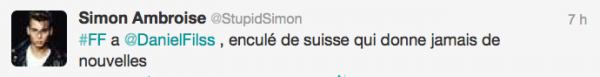 News twitter de Simon 27/07/12
