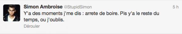 News twitter de Simon 28/07/12