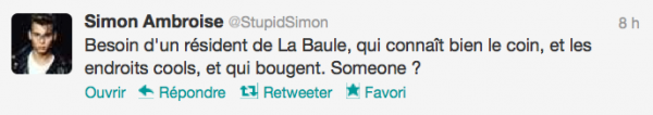 News twitter de Simon 19/08/12