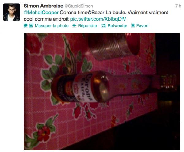 News twitter de Simon 19/08/12