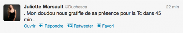 News twitter de juliette 20/08/12