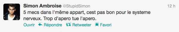 News twitter de Simon 20/08/12