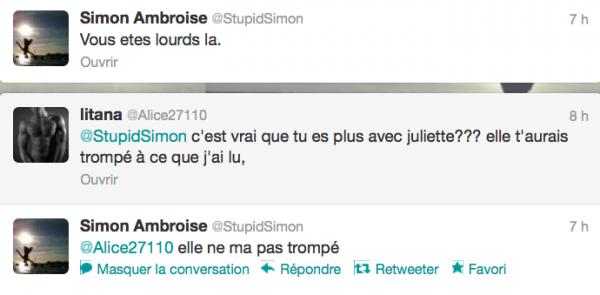 News twitter de Simon 23/08/12