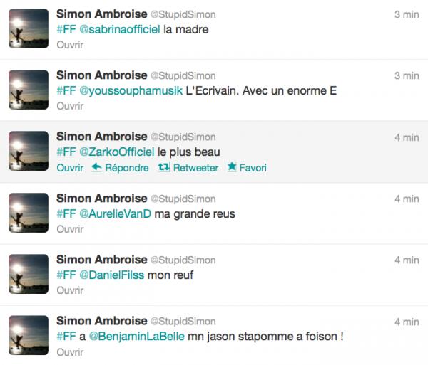 News twitter de Simon 24/08/12