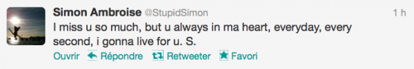 News twitter de Simon 25/08/12