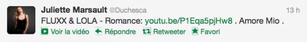 News twitter de Juliette 25/08/12