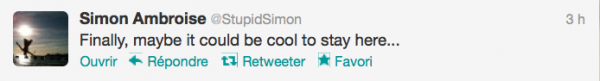 News twitter de Simon 26/08/12