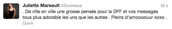 News twitter de juliette 03/09/12