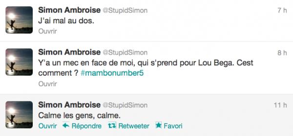 News twitter de Simon 05/09/12