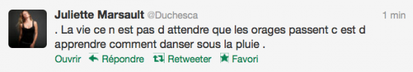 News twitter de juliette 05/09/12