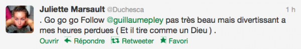 News twitter de juliette 11/09/12