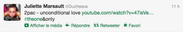 News twitter Juliette 13/09/12