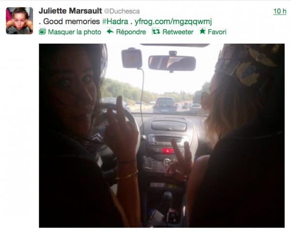 News twitter de juliette 15/09/12