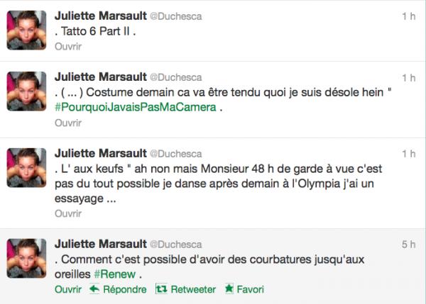 News twitter de juliette 17/09/12