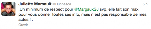 News twitter de juliette 19/09/12