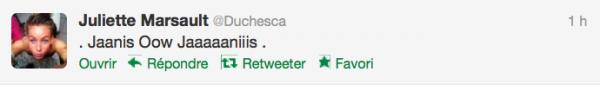 News twitter de juliette 20/09/12