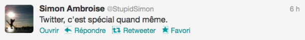 News twitter de Simon 23/09/12