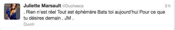 News twitter de juliette 24/09/12