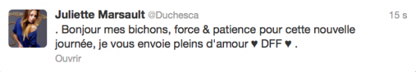 News twitter de juliette 25/09/12