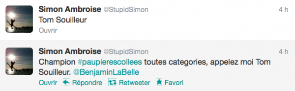 News twitter de Simon 27/09/12