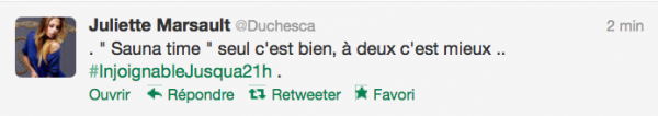 News twitter de juliette 28/09/12