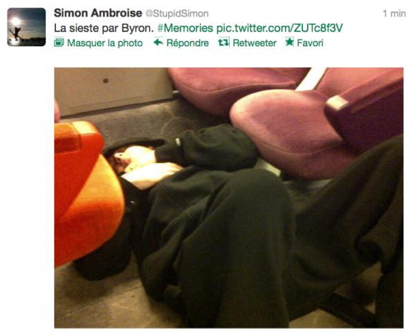 News twitter de Simon 28/09/12