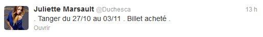 News twitter de Juliette 29/09/12 (nuit)