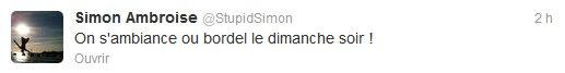 News twitter de Simon 30/09/12