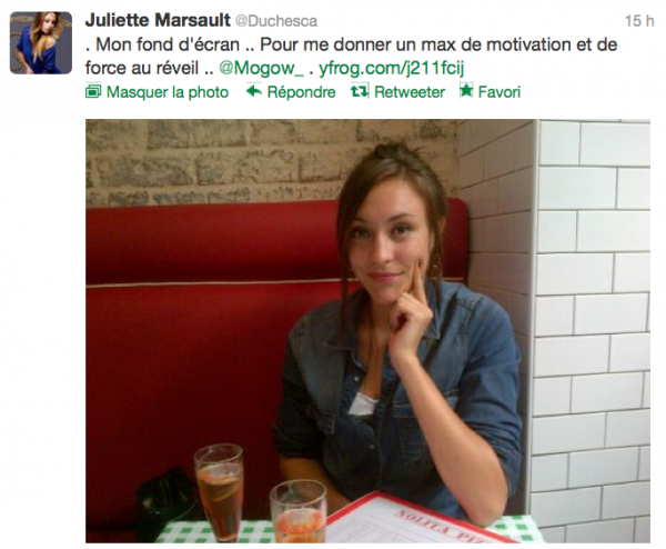 News twitter de juliette 01/10/12