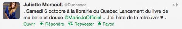 News twitter de juliette 02/10/12