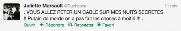 News twitter de juliette 03/10/12