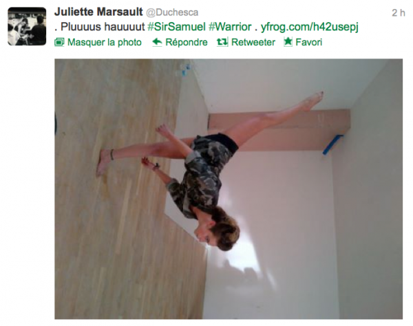 News twitter de juliette 07/10/12 suite