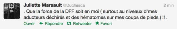 News twitter de juliette 09/10/12