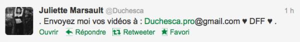 News twitter de juliette 10/10/12