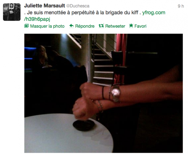News twitter de juliette 11/10/12