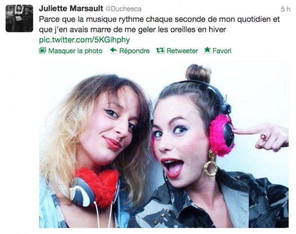News twitter de juliette 12/10/12