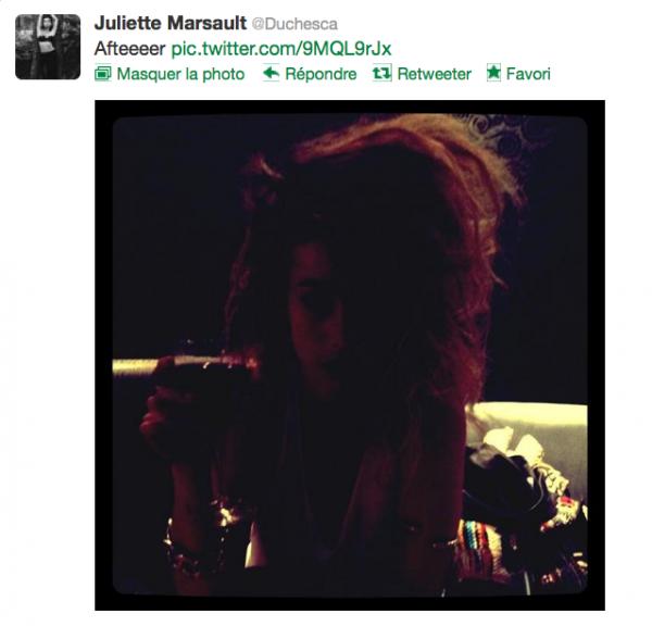 News twitter de juliette 14/10/12